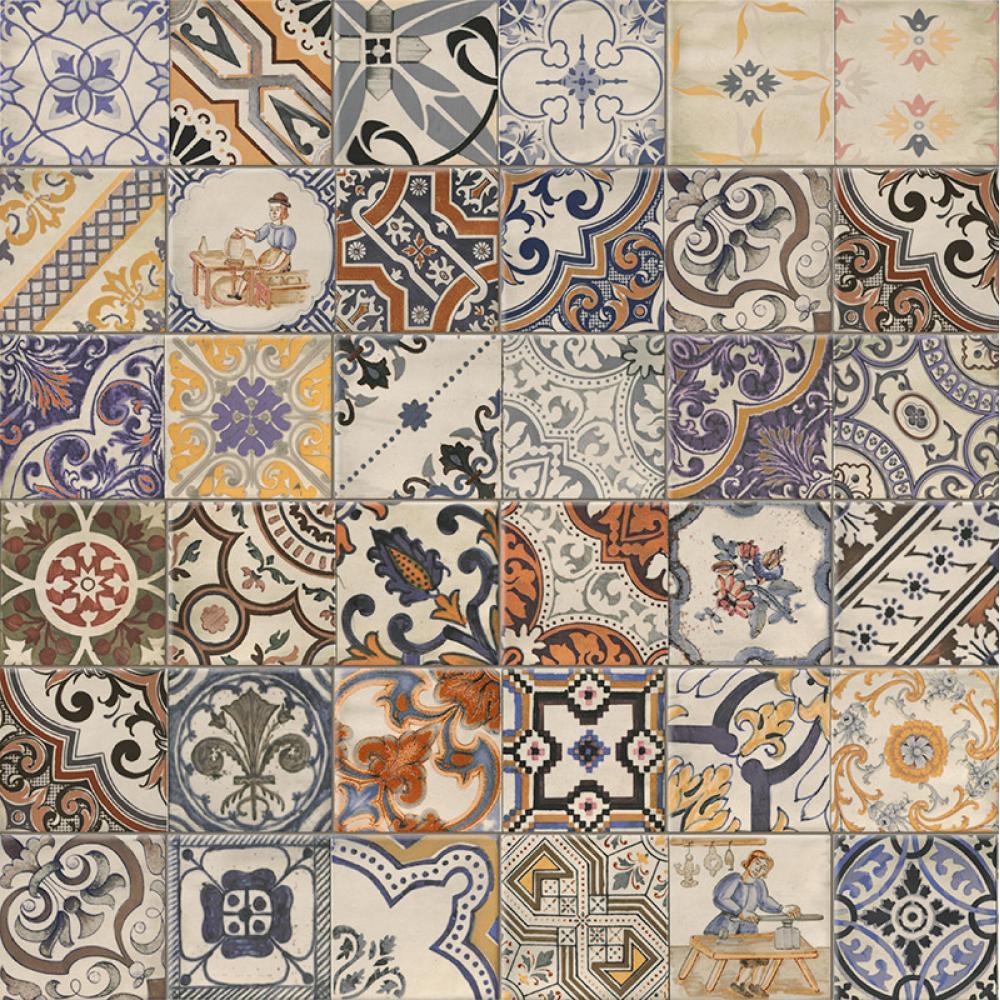 f063136174 MZ Kézzel festett csempe hatású kerámia dekor, fürdő vagy konyha csempe